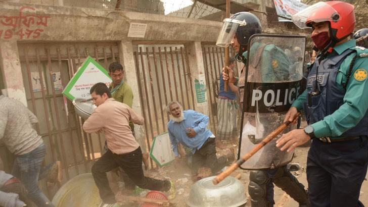 রাজধানীতে বিএনপি নেতাকর্মীদের বিরুদ্ধে পুলিশের অ্যাকশন। ছবি: যুগান্তর